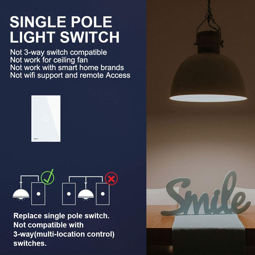 Livolo Light Switch Tempered Glass Panel Touch 1 Gang Automatic Washroom Circuit Diagram And Working Way With Indicator Us Standard Modern Wall Ac 110 220v