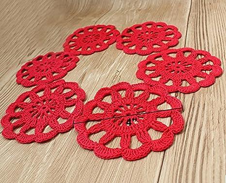 Crochet portavasos
