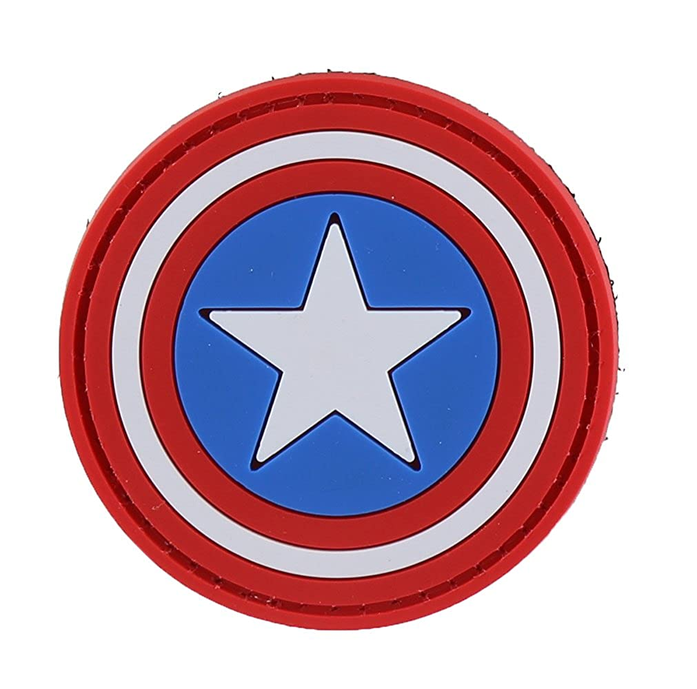 One Size Velcro Backing Captian America DDT Rubber Moral Patches