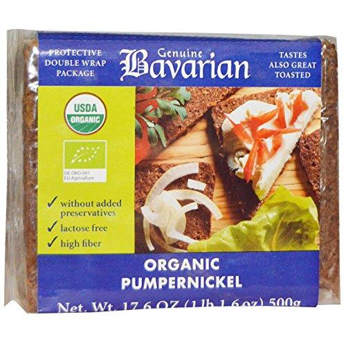 BAVARIAN ORGANIC PUMPERNICKEL BREAD 17.6 OZ