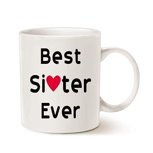 Taza de regalo de Navidad para hermana, mejor hermana ever ...
