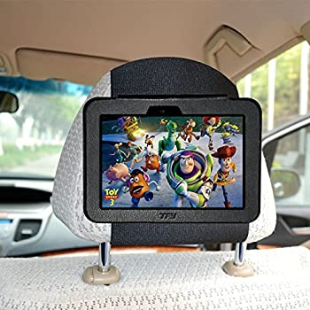 "TFY Car Headrest Mount Holder for Kindle Fire HD 7"" (Previous Generation), Fast-Attach Fast-Release Edition, Black (Only Fits Kindle Fire HD 7"