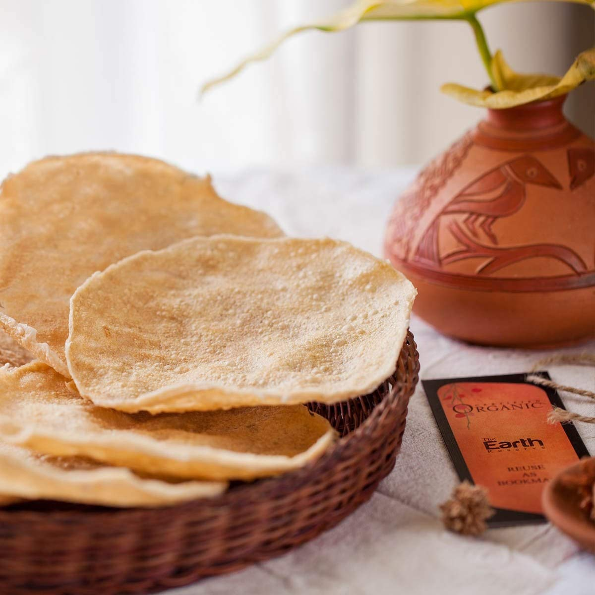 The Earth Reserve 100/% Natural Handmade Dried Indian Jackfruit Papad//Pappad//Papadum USDA Certified