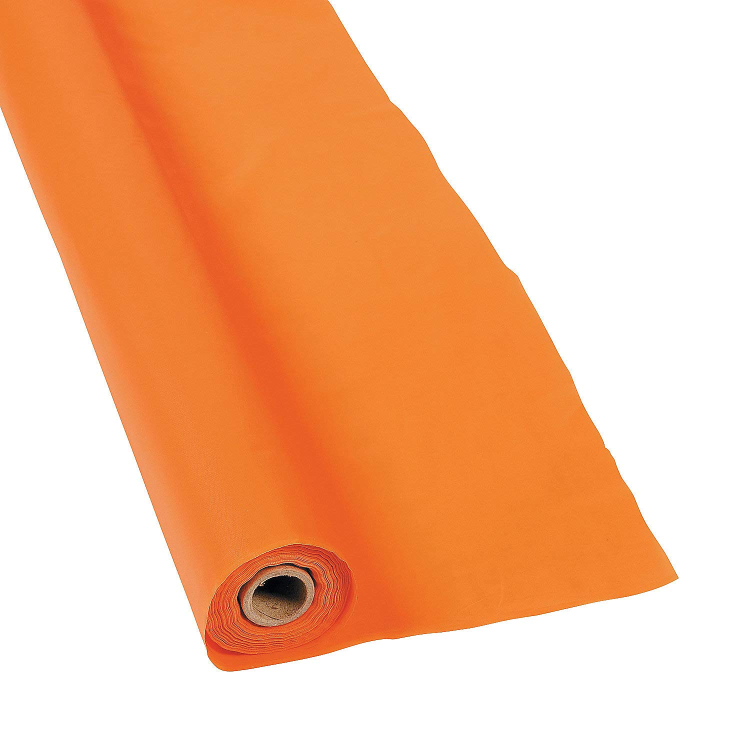 Disposable Orange Tablecloth Roll (40 x 100') - Party Supplies and Decoration