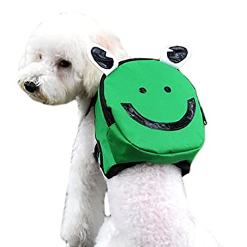Xiton Pet Backpack with Harness Outdoor Pet Bag with Adjustable Strap bag Dog Travel Leash Backpacks L Size