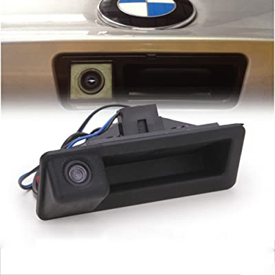 LIEBMAYA 170 Degree Car Trunk Handle Backup Camera Rear View HD Camera Parking Backup Camera for BMW E60 E61 E70 E71 E72 E82 E88 E84 E90 E91 E92 E93 X1 X5: Automotive