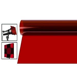 Neewer 16x20 inches Gel Color Filter, Colored Overlays, Transparent Color Film Plastic Sheets, Correction Gel Light Filter for Photo Studio Strobe Flash, LED Video Light, DJ Light, etc. (Red)