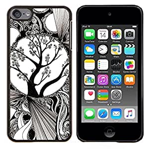 Stuss Case / Funda Carcasa protectora - White Art Blossoming Tree - Apple iPod Touch 6 6th Touch6
