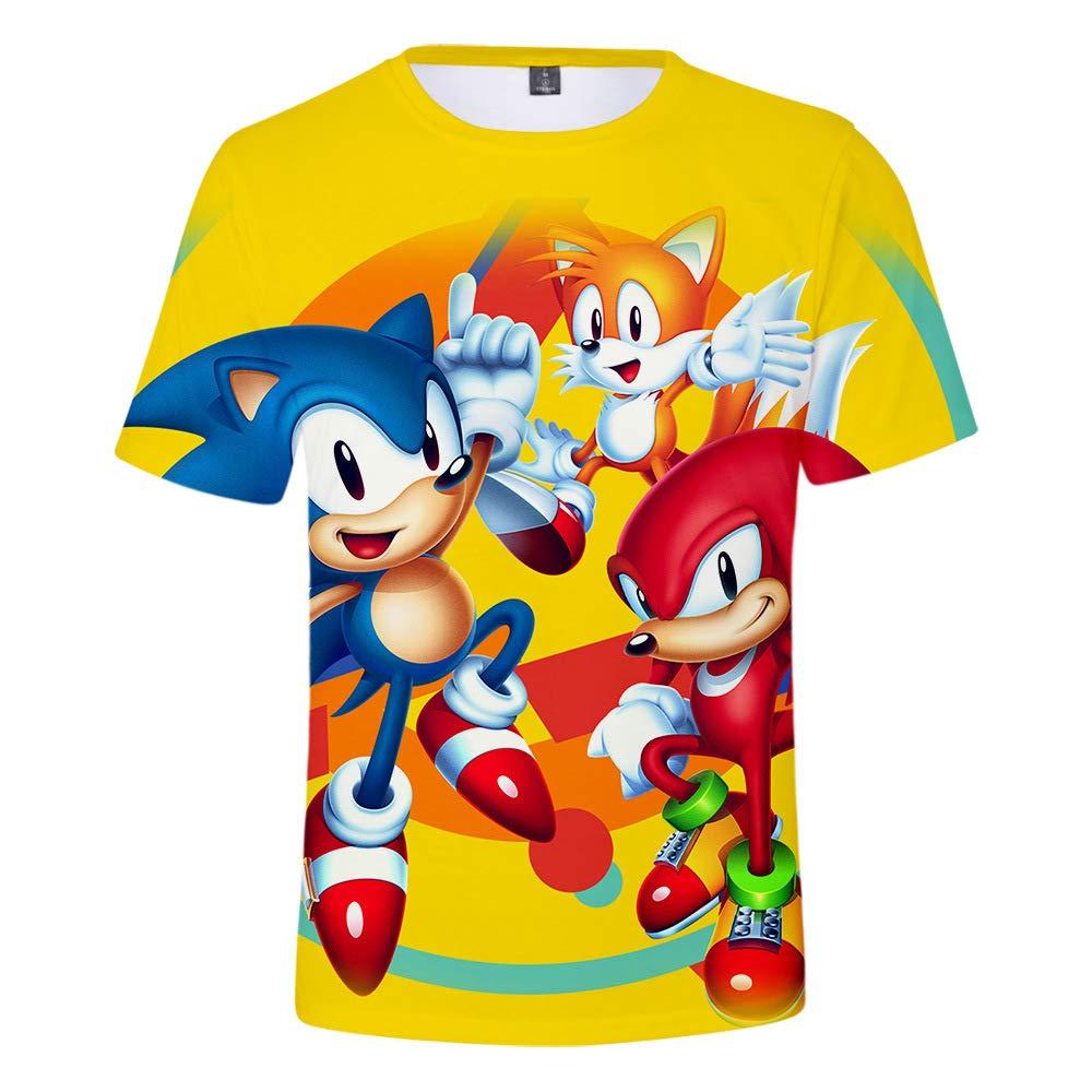Sonic Ragazzi e Bambini Maglietta 3D Stampato Fantastico Estiva Fashion T-Shirt