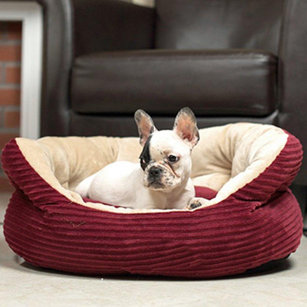 casas para perros interiores Cama para mascotas con colchón lavable de forma rectangular Cama para mascotas con tejido de panadera transpirable universal de ...