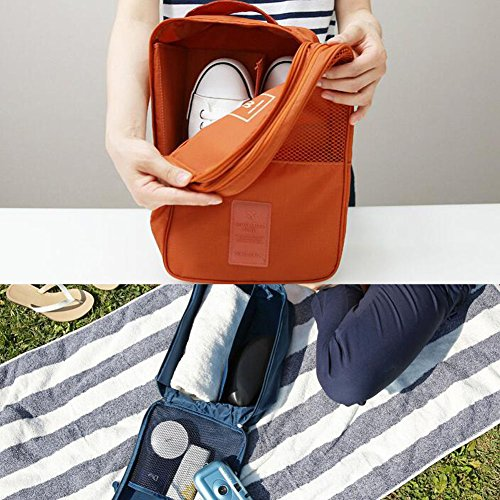 Tragbare Schuhbeutel-Schuhe Organisator-Halter-Aufbewahrungsbeutel-Reise draußen, A