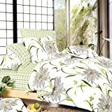 Blancho Bedding - [Green Lotus] 100% Cotton 3PC Duvet Cover Set (Twin Size)