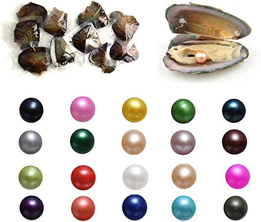 7-8mm Best Gift Cultured Freshwater Pearls 1PC Oyster with Round Pearl Inside