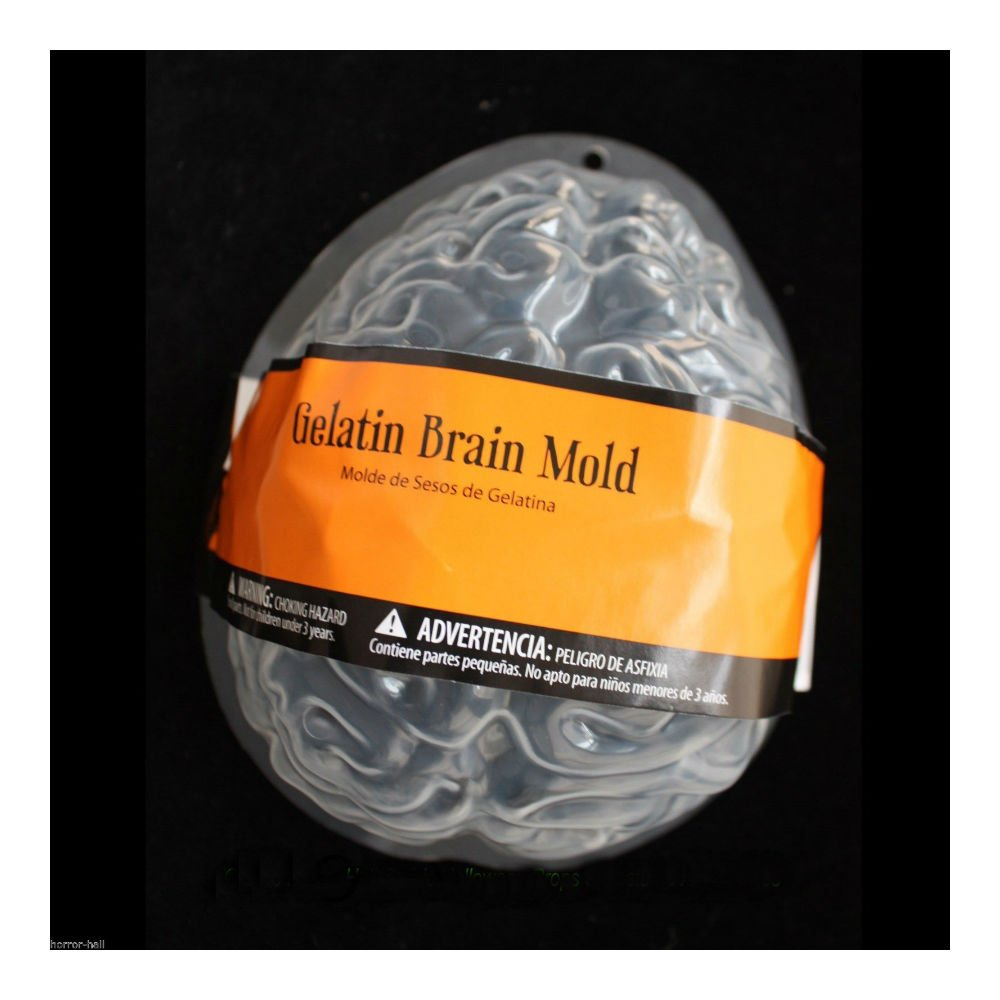 Amazon.com | Forum Novelties 69000 Horr Life Size Brain Dessert Jello Gelatin Mold Zombie Food Halloween Horror Prop-2pc, One: Cups, Mugs, & Saucers