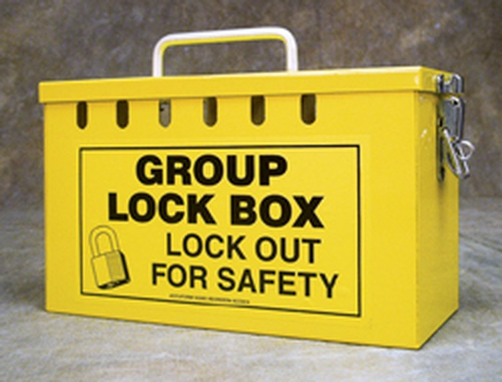 Accuform KCC617 Portable Group Slot Lock Box, 10'' Width x 6'' Height x 4-1/4'' Length, Steel, Red