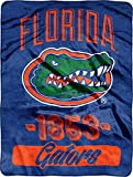 The Northwest Company NCAA Florida Gators Varsity Micro Raschel Throw, 46-Inch by 60-Inch