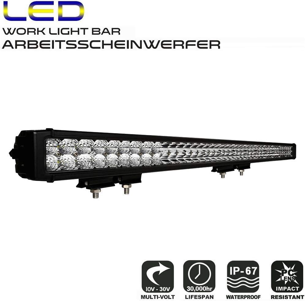 AFTERPARTZ D4 Projecteur de travail à LED avec nouveau réflecteur Osram 34000LM Combo Phare de travail D5 50\