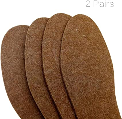 6mm Felt Insoles Winter Thick Warm Felted Wool Shoe Boot Inner Soles 10 Pairs