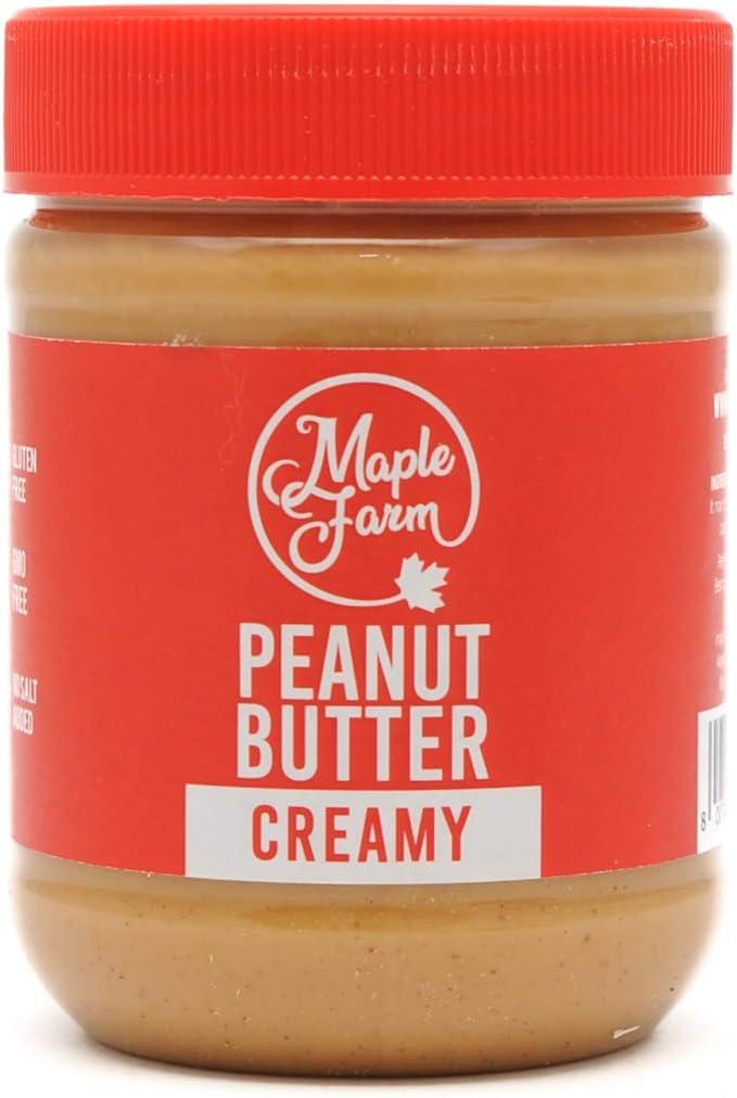 MapleFarm, Puro Burro d'arachidi cremoso (CREAMY), Vaso da 325 g, Original peanut butter creamy