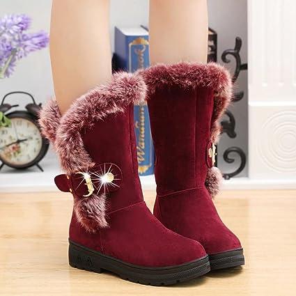 f41451d5d Hemlock Snow Boots Womens, Women's Winter Warm Calf Boots Soft Slip-On Long  Boots Shoes Booties
