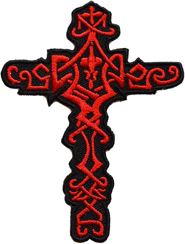 topt mili ecusson Croix catholique celte Celtique Breton Bretagne Breizh Biker thermocollant 8x6,5cm