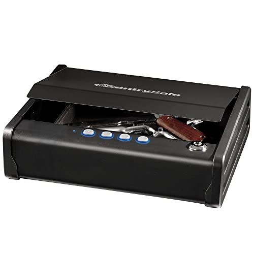1. SentrySafe Pistol Safe, Quick Access Gun Safe, Digital Lock, One Pistol Capacity, QAP1E