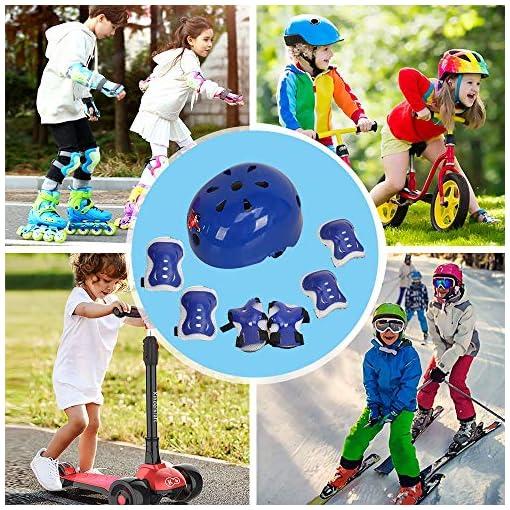 Voker Enfants Youth Sports Casque Vélo Enfant Réglable Sets de Protection Enfant Casque Ajustable Coudières Genouillère Protège-Poignets Protections Sports Srotection