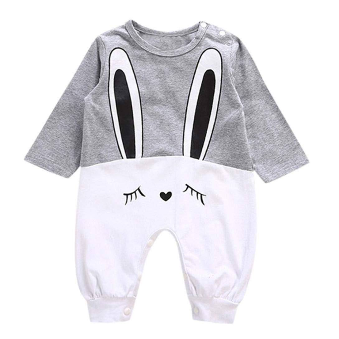 Kinlene Vestiti delle Tute Casuali della Tuta del Pagliaccetto della Stampa del Coniglio dei Ragazzi della neonata