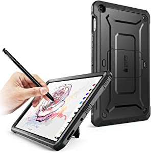 SUPCASE Unicorn Beetle Pro Series Case Designed for Galaxy Tab A 8.0 (2019 Release), with Built-in Screen Protector Full-Body Rugged Heavy Duty Case for Galaxy Tab A 8.0 with S Pen 2019 (Black)