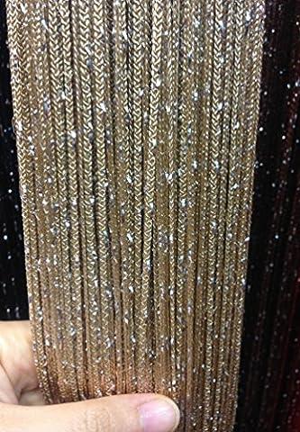 Yiyida Glitter String Curtain Panels Tassel Room Divider Net Curtains