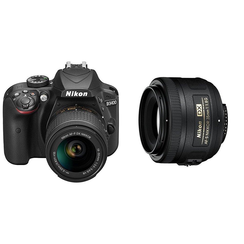 Nikon D3400 + 18-55 AFP DX VR, Cámara réflex digital de 24,2 Mp ...