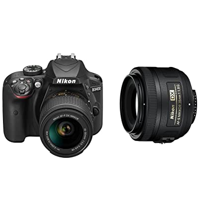 Nikon D3400 + 18-55 AFP DX VR, Cámara réflex digital de 24,2 Mp ...
