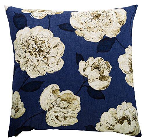 Canaan Company Begonia Decorative Throw Pillow, Navy (Canaan Company Pillow compare prices)