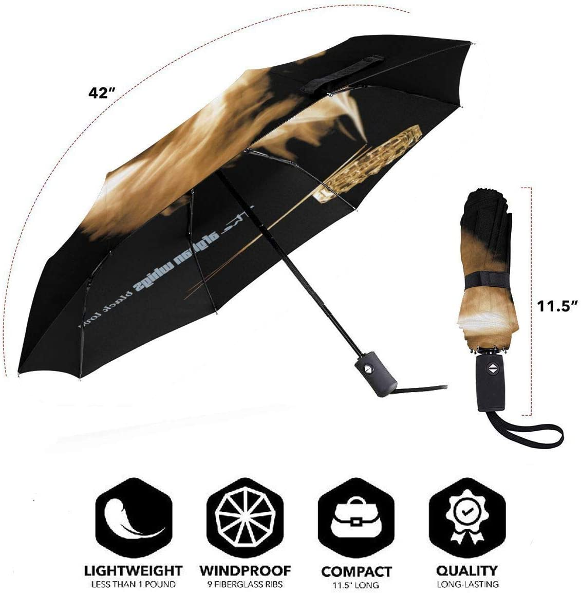 The Afghan Whigs Sun Protection Umbrella,Waterproof Travel Automatic Tri-fold Umbrellas