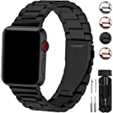 Fullmosa Compatible Apple Watch Band 38mm 40mm 42mm 44mm Series 5 4 3 2 1, Stainless Steel Metal For iWatch bands