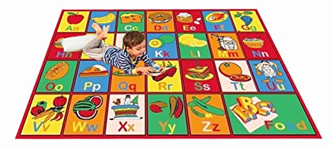 Marvelous Kids Rug ABC FRUIT Area Rug 39u0026quot; X 58u0026quot; ...