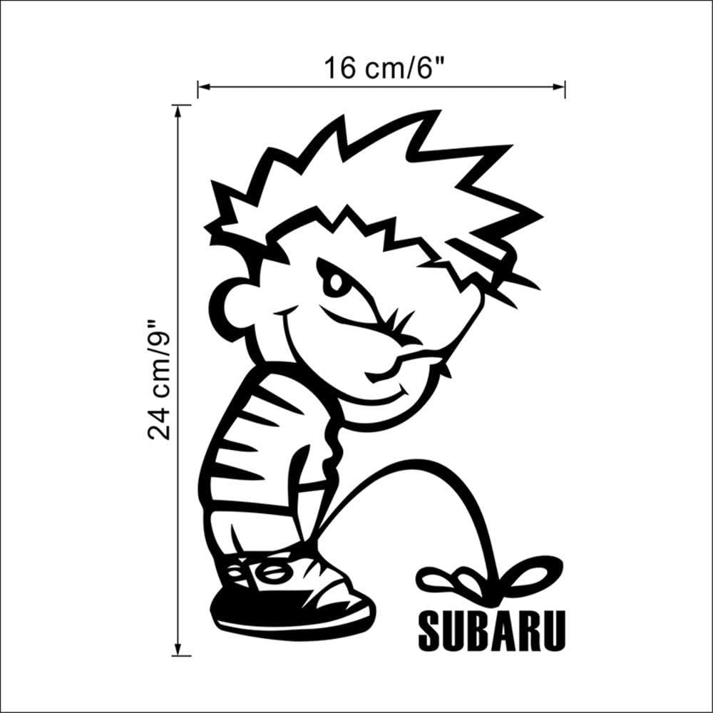 2 PACK,Divertido Naughty Boy Subaru Pee Etiqueta Engomada Del Coche Decoración Para El Hogar Pegatinas De Pared Aseo Hogar Wc Baño Baño Mural De Arte De Vinilo Calcomanías: Amazon.es: Bricolaje y herramientas