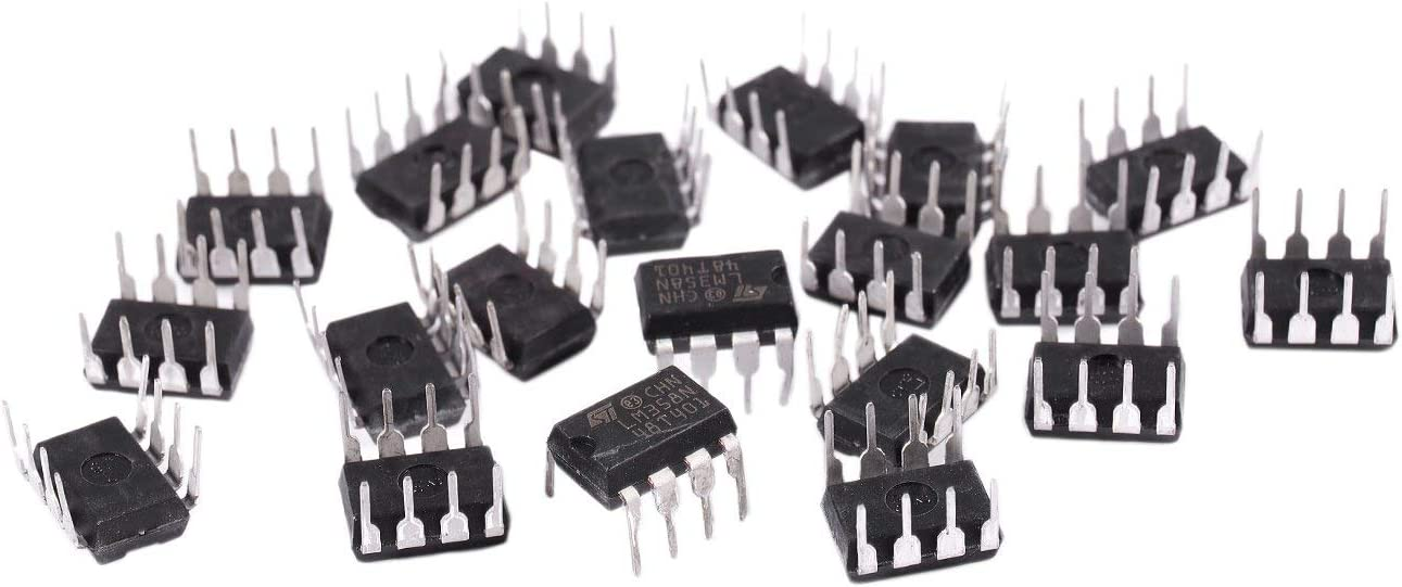 Gaoominy 20 Pieces LM358 LM358N LM358P Dual Operational Amplifiers Op-Amp DIP8