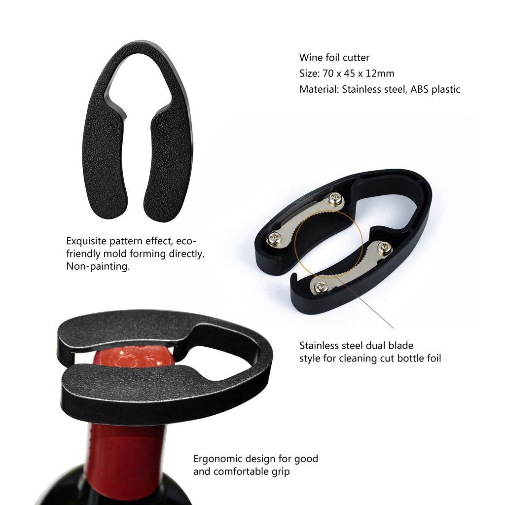 Ovonni Tire Bouchon Ouvre Bouteille Vin Screwpull en Zamak avec Coupe Capsule 2 en 1- Couleur Cuivre Rétro Nostalgique Style