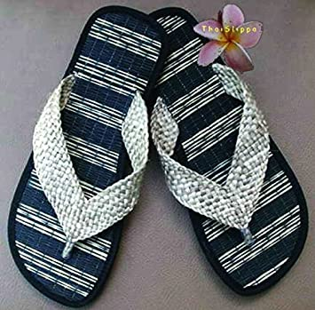 17c7729e6cc27 Amazon.com   Thai Spa Slippers Resort Sandals Hotel Shoes Size 8-12  Handmade Woven From Reedmat 2   Beauty