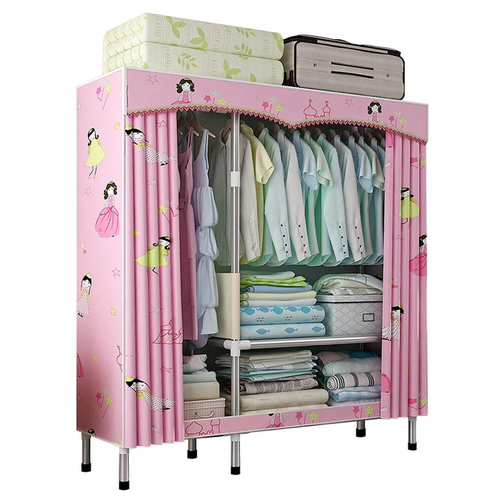 Hai Yan Boutique Cloth Wardrobe Cloth Wardrobe Assembly Dormitory Storage Clothes Fabric Coat Rack Hanger Small by Hai Yan