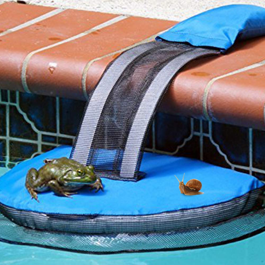 15 1,5 cm Rana Piscina Huida Piscina Red de seguridad de rescate de fuga Rampa Herramienta Rampa de rescate animal para piscina 20