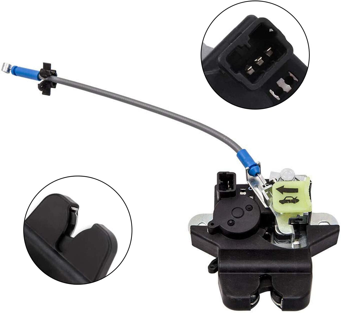 Trunk Lid Lock Latch Trunk Lid Latch Lock Assembly 81230-C1010 Compatible with 2015 2016 2017 Hyundai Sonata 1.6L 2.0L 2.4L Engines 81230-C1010 81230C1010