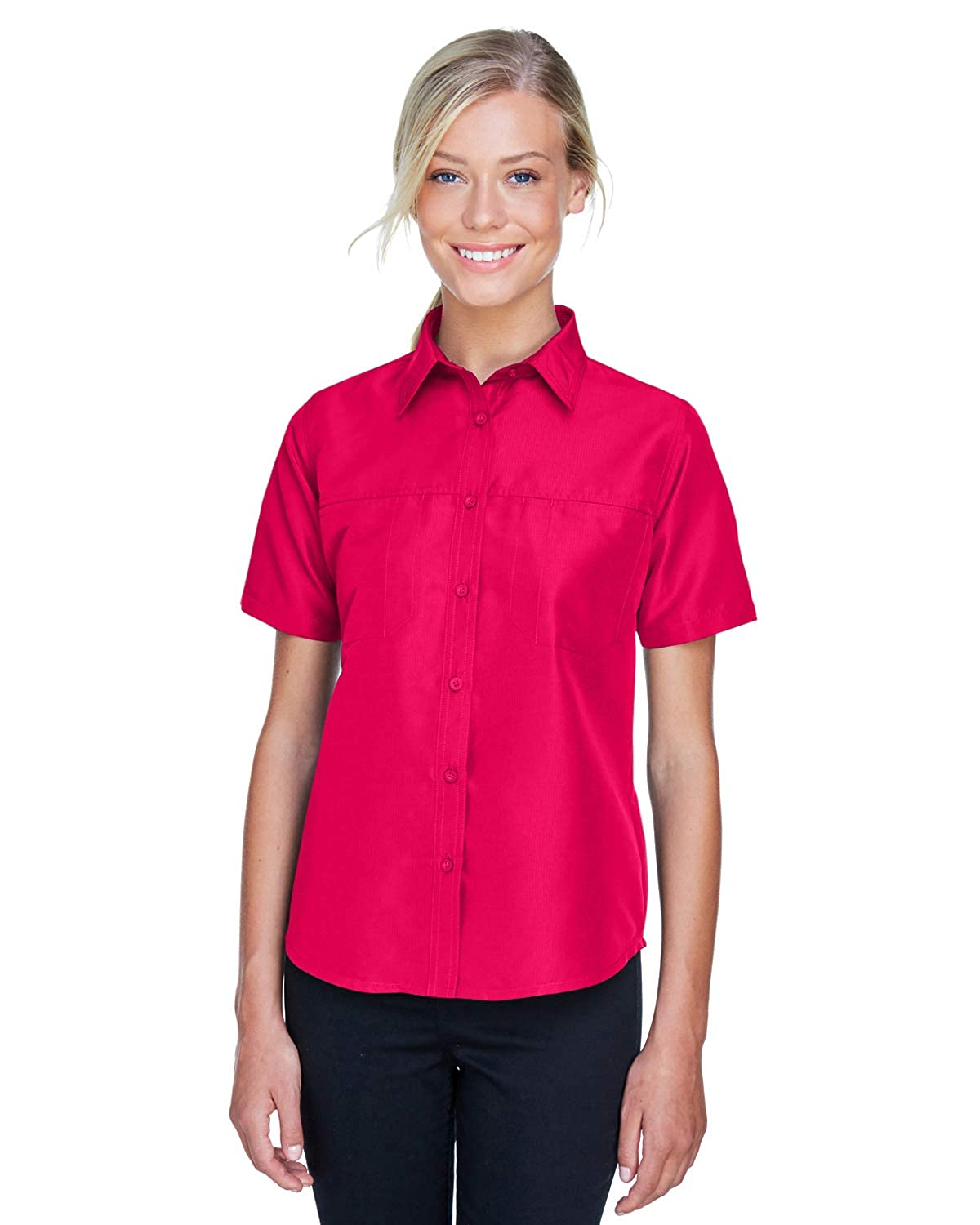 e594ebbecdd Amazon.com  Averill s Sharper Uniform Women s Valet Mesh Back Performance  Shirt  Clothing