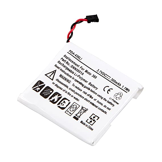 Replacement battery for motorola moto 360, SNN5951A, WX30, (NO TOOLS INCLUDED)