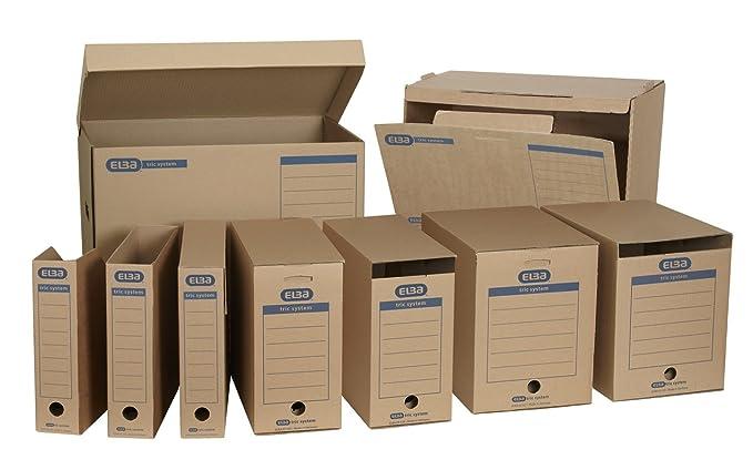 Elba 83521 - Revistero archivador (sistema de lengüetas, con inscripciones impresas para archivado, 12 unidades), color marrón: Amazon.es: Oficina y ...