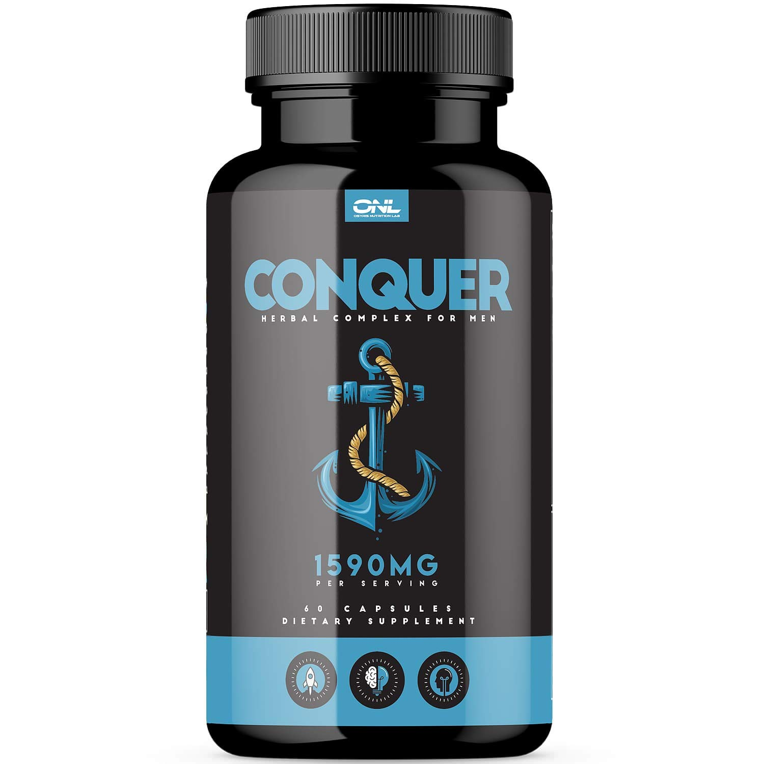 Conquer | #1 Premium Fertility Supplement for Men (60 Capsules) - Support Sperm Count, Motility, Volume - All Natural Energy Booster - Healthy Herbal Complex - 1 Month Supply