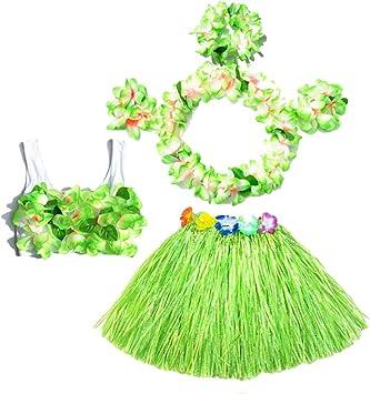 BESTOYARD 6pcs falda de hierba hula tropical traje de disfraces ...