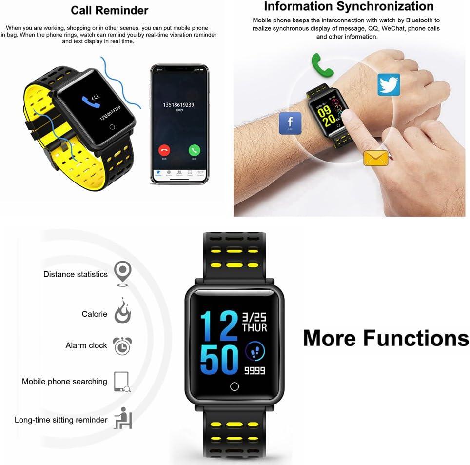 CanMixs Smartwatch Orologi Intelligenti Fitness Activity Trakcer Braccialett CM11 Impermeabile IP68 Cardiofrequenzimetro da Polso Pedometro Orologio Sport per Donna Uomo per Telefoni Android e iOS