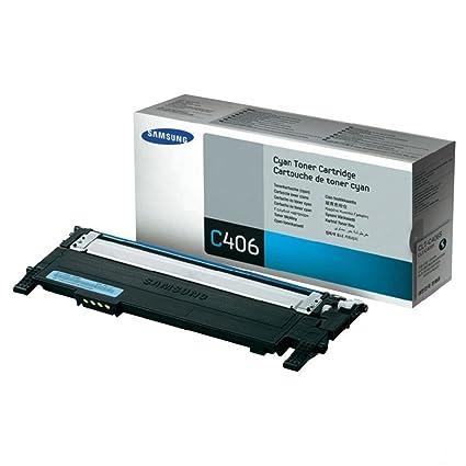 Samsung CLT-C406S tóner y cartucho láser - Tóner para impresoras láser (1000 páginas, Laser, Samsung, 470g, 18,3 cm, 7,3 cm) Negro
